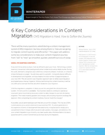 6 Key Considerations in Content Migration